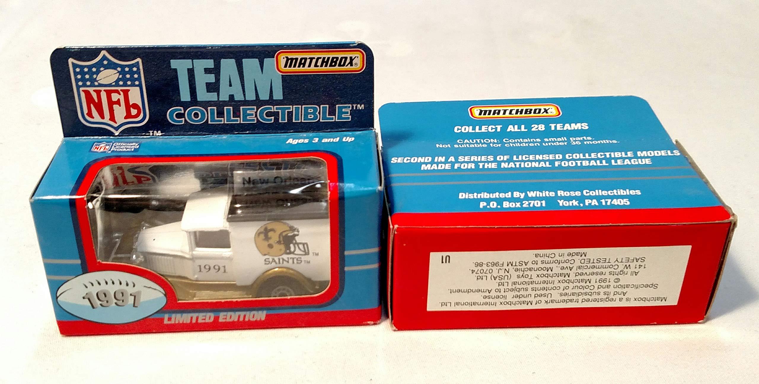 New Orleans Saints 1991 Limited Edition Matchbox Die Cast Collectible