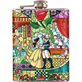 8oz - Beauty And The Beast Liquor Hip Flask Stainless Steel (FK-0532)