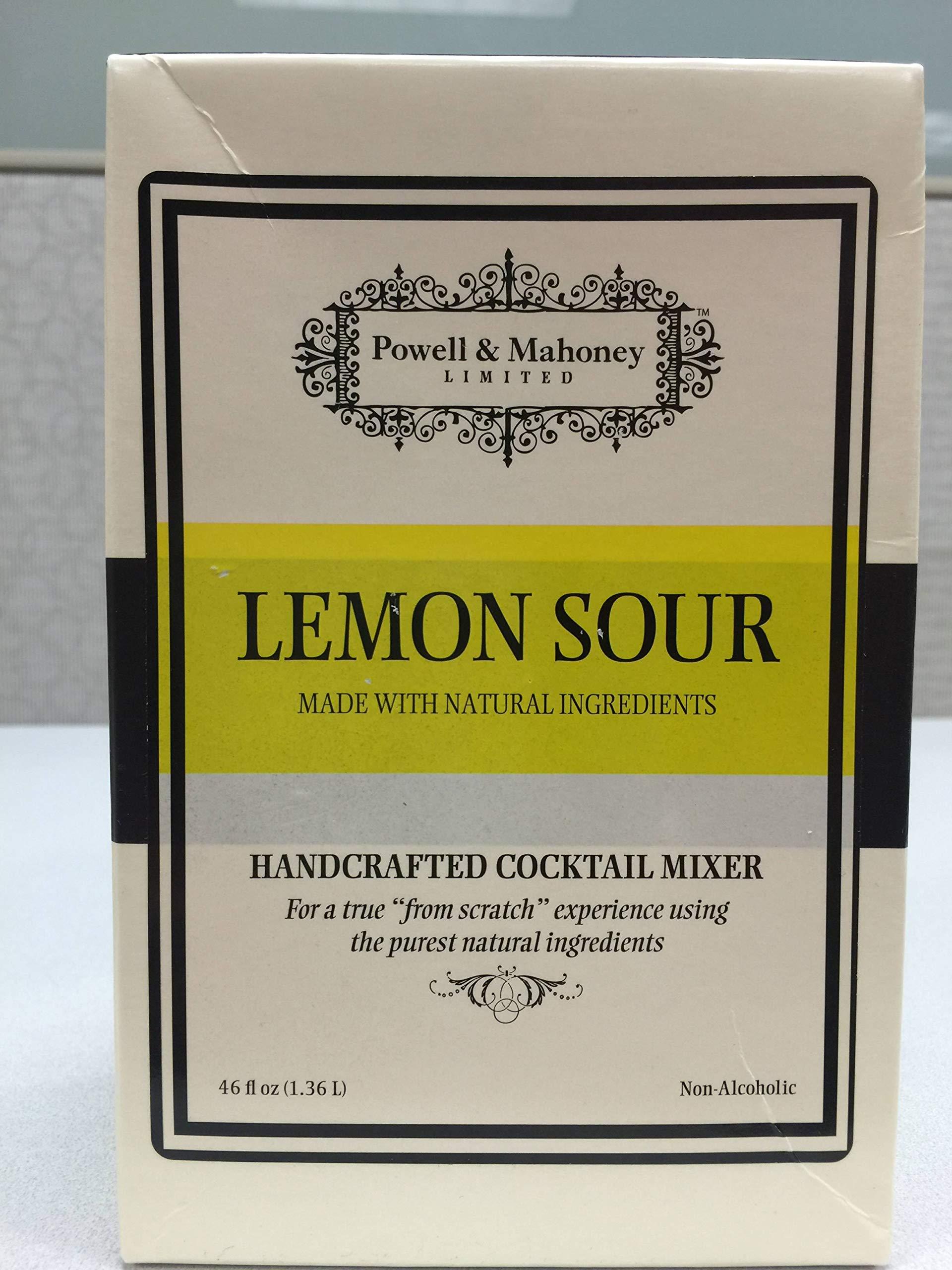 Powell and Mahoney Lemon Sour Cocktail Mixer -- 6 per case.