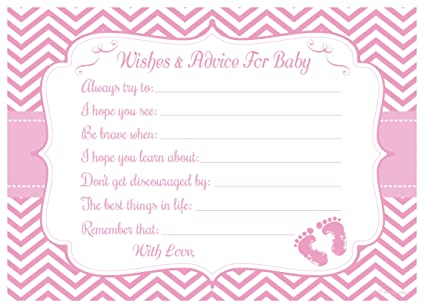 Amazon Com Pink Baby Feet Wishes And Advice For Baby Cards Girl