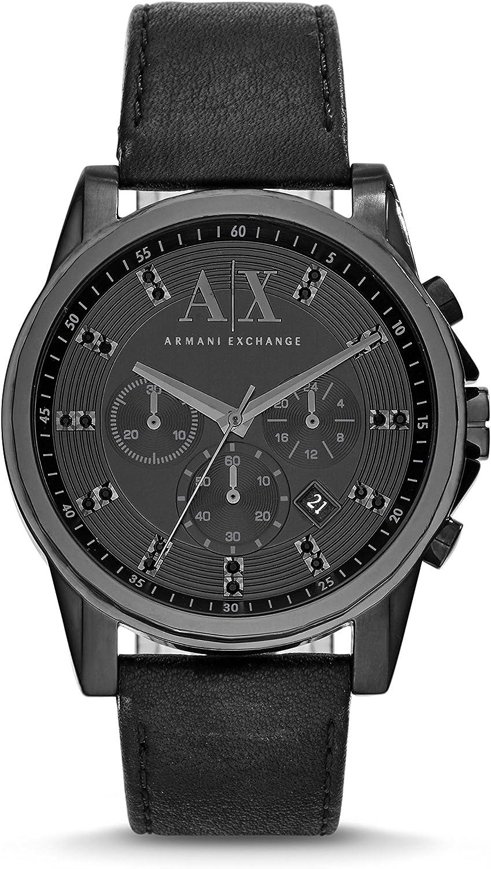 Armani Exchange Men s AX2507 Black Leather Watch