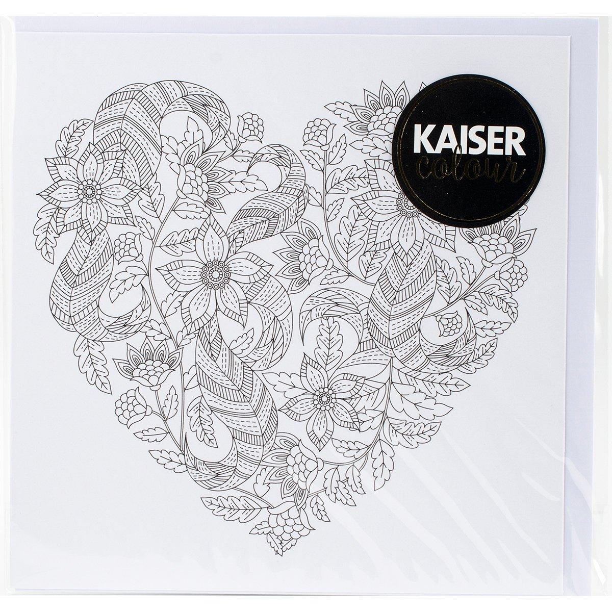Kaisercraft Floral Heart Kaisercolour Gift Card with Envelope, 6 x 6 6 x 6 CL1003