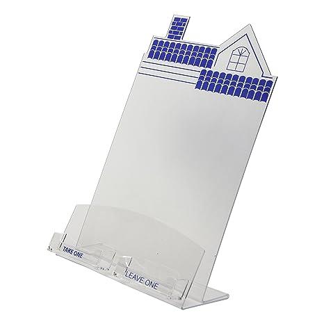 Amazon clear ad hse 8511 c2 clear acrylic house shaped clear ad hse 8511 c2 clear acrylic house shaped flyer colourmoves