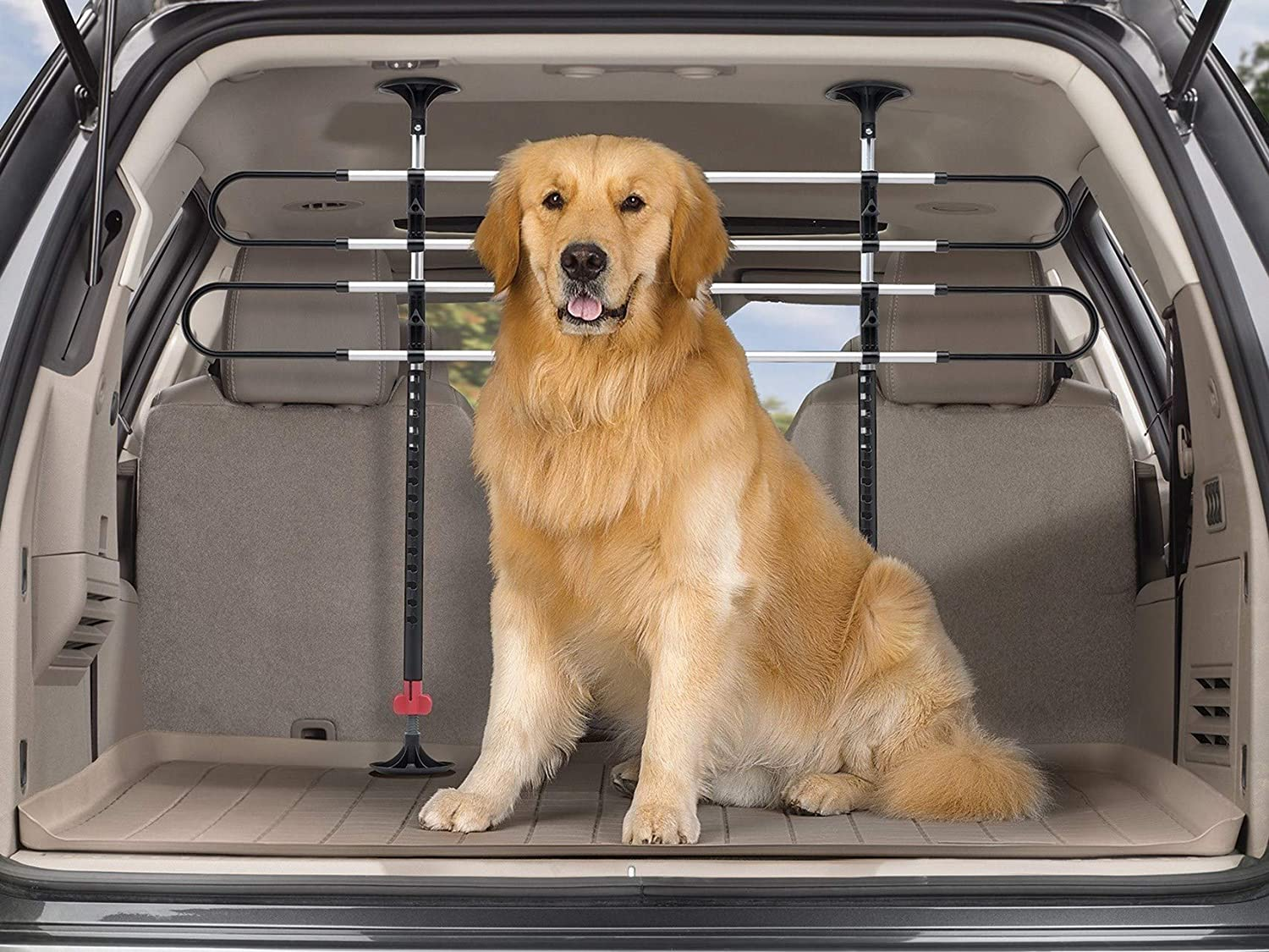 Keeps Pets Secure in Vehicle Behind Your 2nd or 3rd Row Seats WeatherTech Pet Barrier