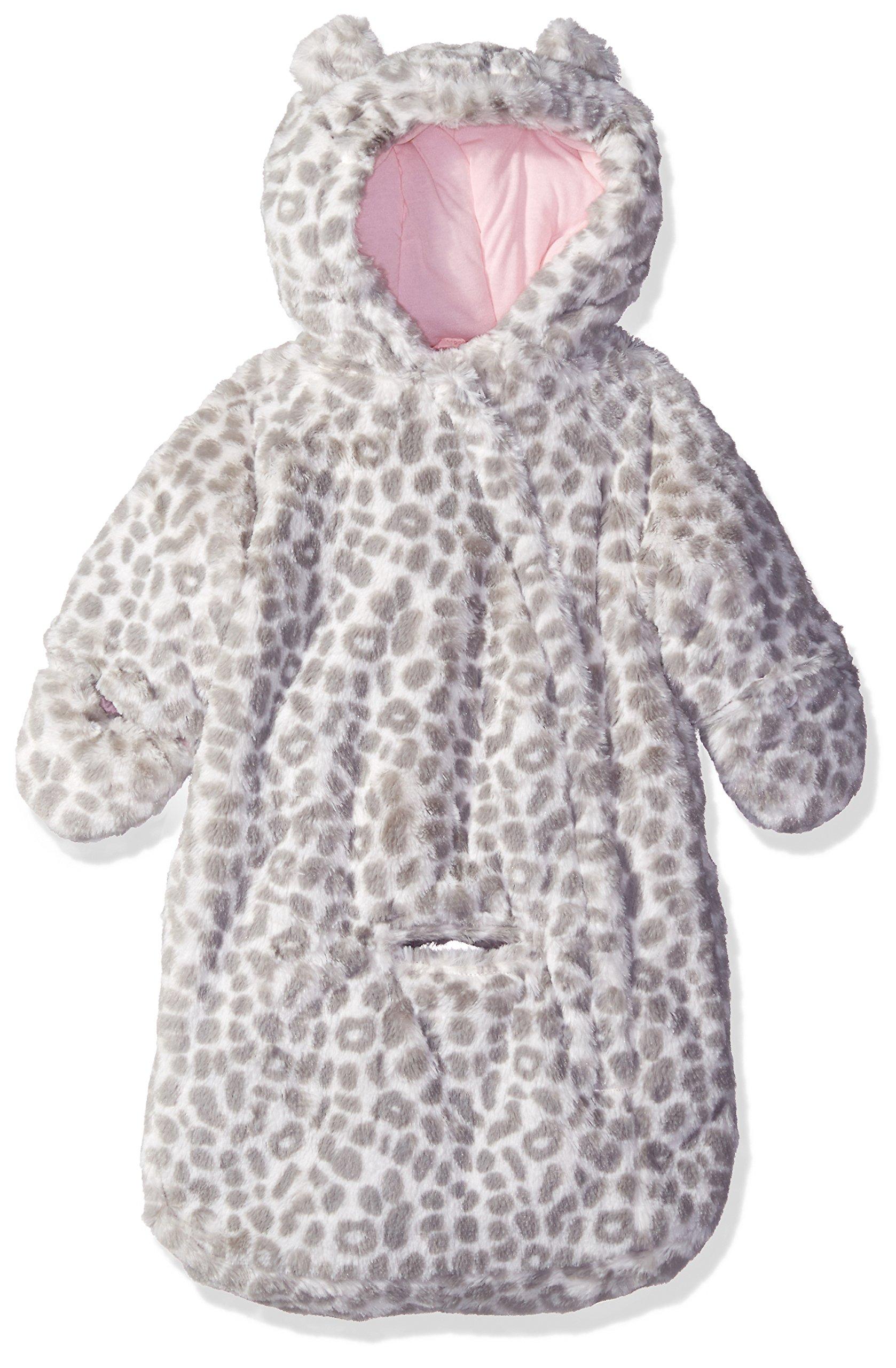 Carter's Girls' Soft Touch Faux Fur pram Bag, Cheetah, 0-6 Months