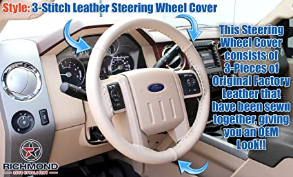 King Ranch Leather Steering Wheel Cover 2008 Ford F-250 F-350 King Ranch