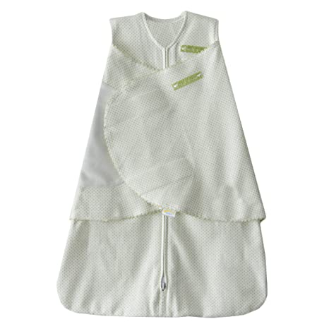 HALO 100% Cotton SleepSack Swaddle, Sage Pin Dot, Small by HALP9