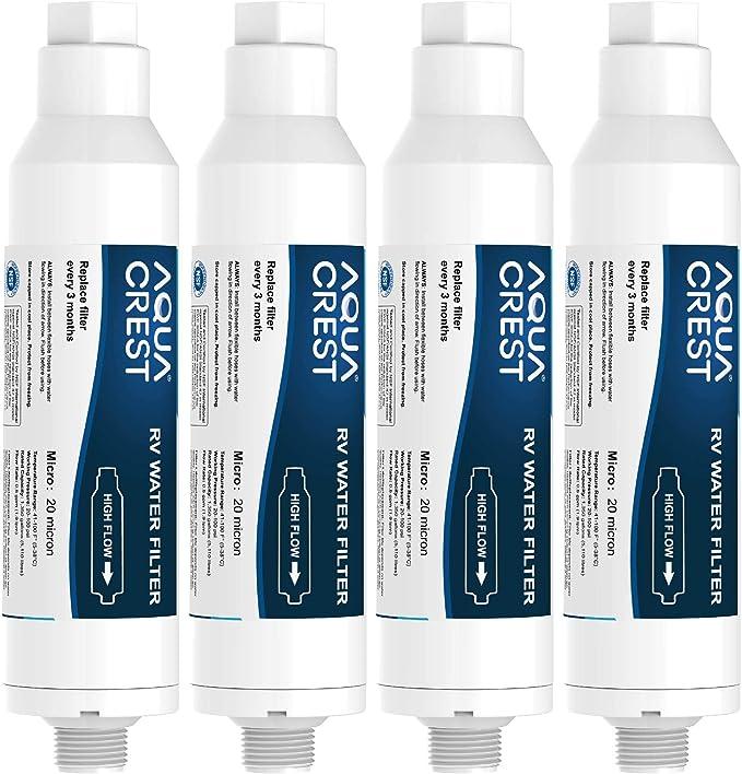 3 Pack RV Inline Water Filter Camper Boat Purifier Filtration Reduce Chlorine US