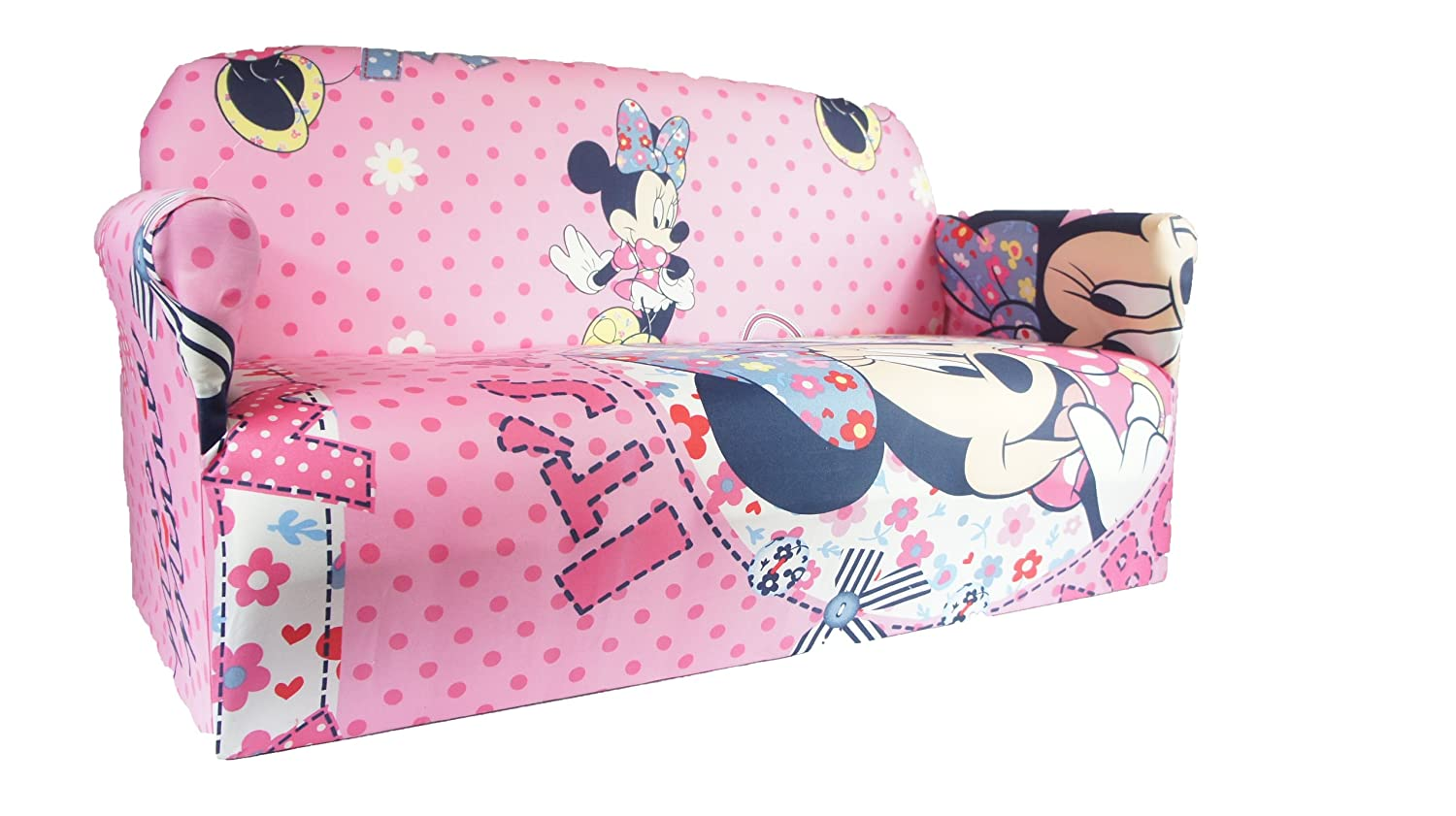 MINNIE MOUSE PINK CHILDRENS DISNEY TV CHARACTERS SOFA ARMCHAIR ...