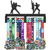 GENOVESE Baile Dance Colgador de Medallas, Metal de Acero Negro, Montaje en Pared 50 Medallas