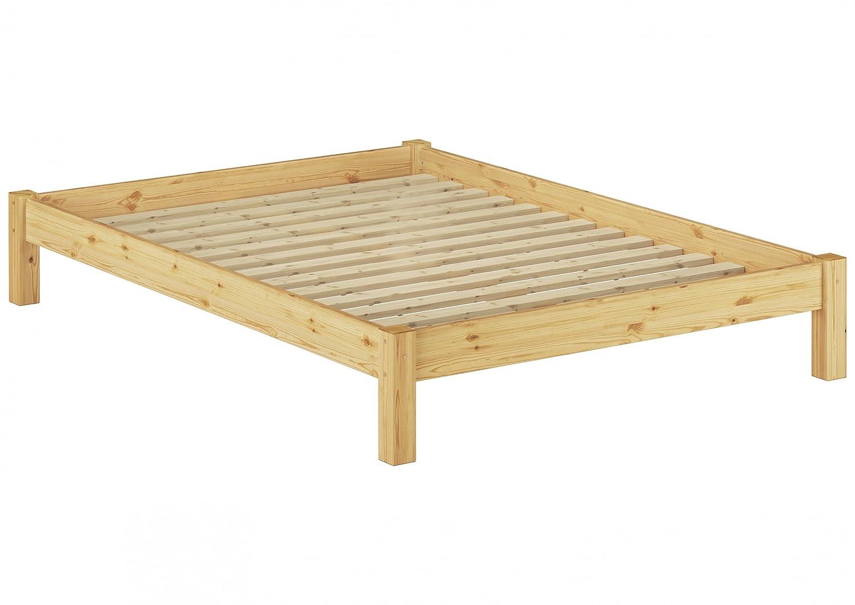 Erst-Holz Solido letto futon 120x200 in pino massello Eco laccato con assi di legno 60.35-12