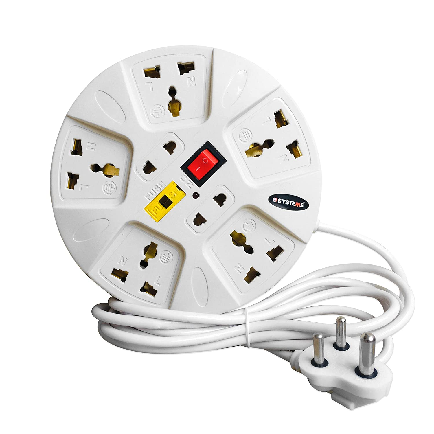 Surprising Buy Esystems 6 A Multi Plug Point Strip Extension Board White Wiring 101 Akebretraxxcnl