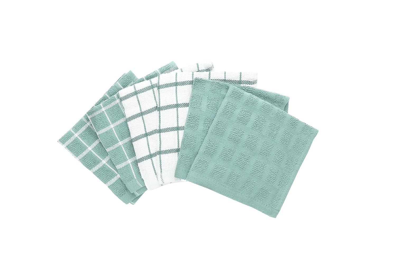 "Ritz 100% Cotton Terry Kitchen Dish Towels, Highly Absorbent, 25"" x 15"", 3-Pack, Black 25"" x 15"" John Ritzenthaler Co 82414"