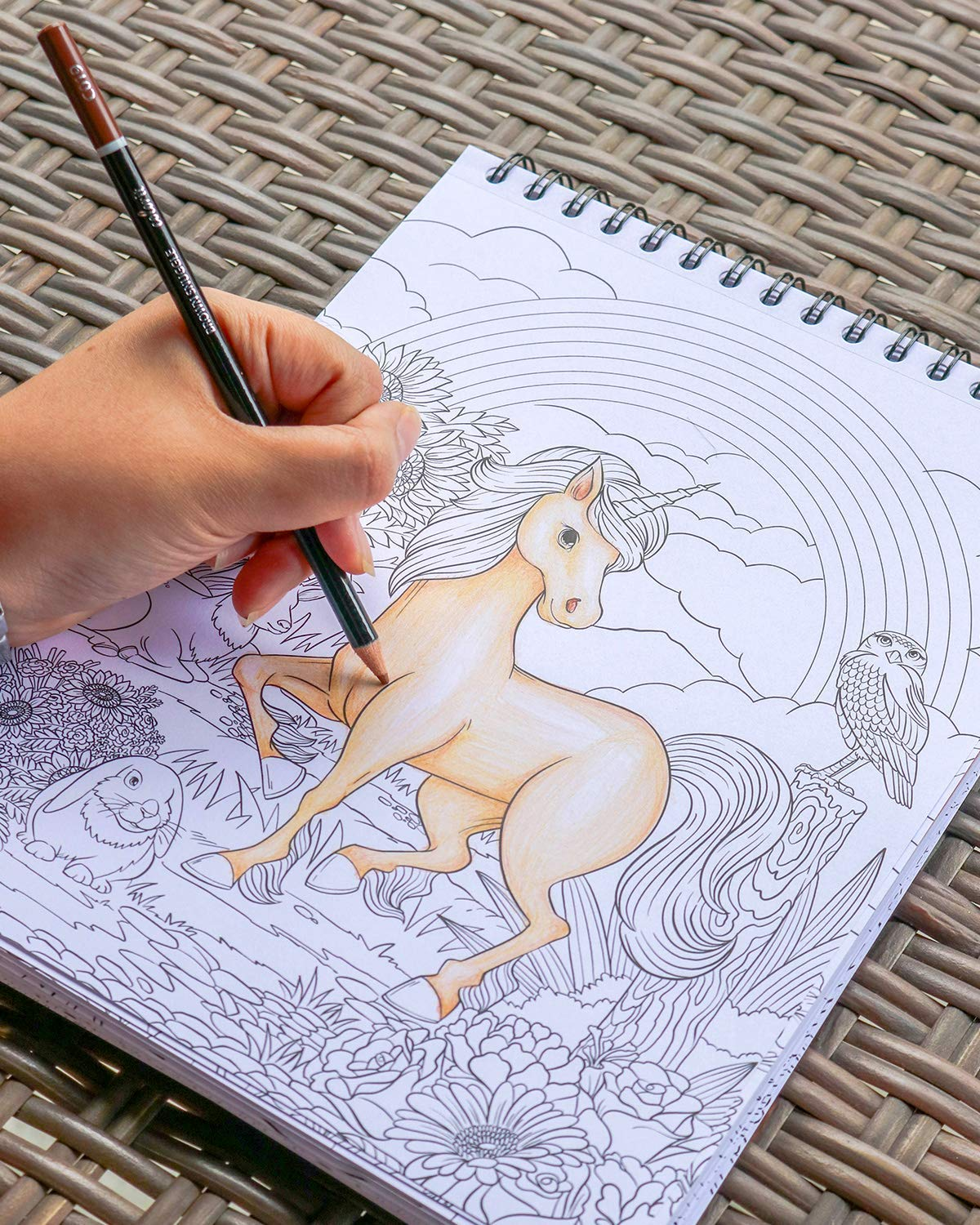ColorIt Colorful Unicorns Adult Coloring Book - 50 Single-Sided Pages, Thick Smooth Paper, Lay Flat Hardback Covers… 9