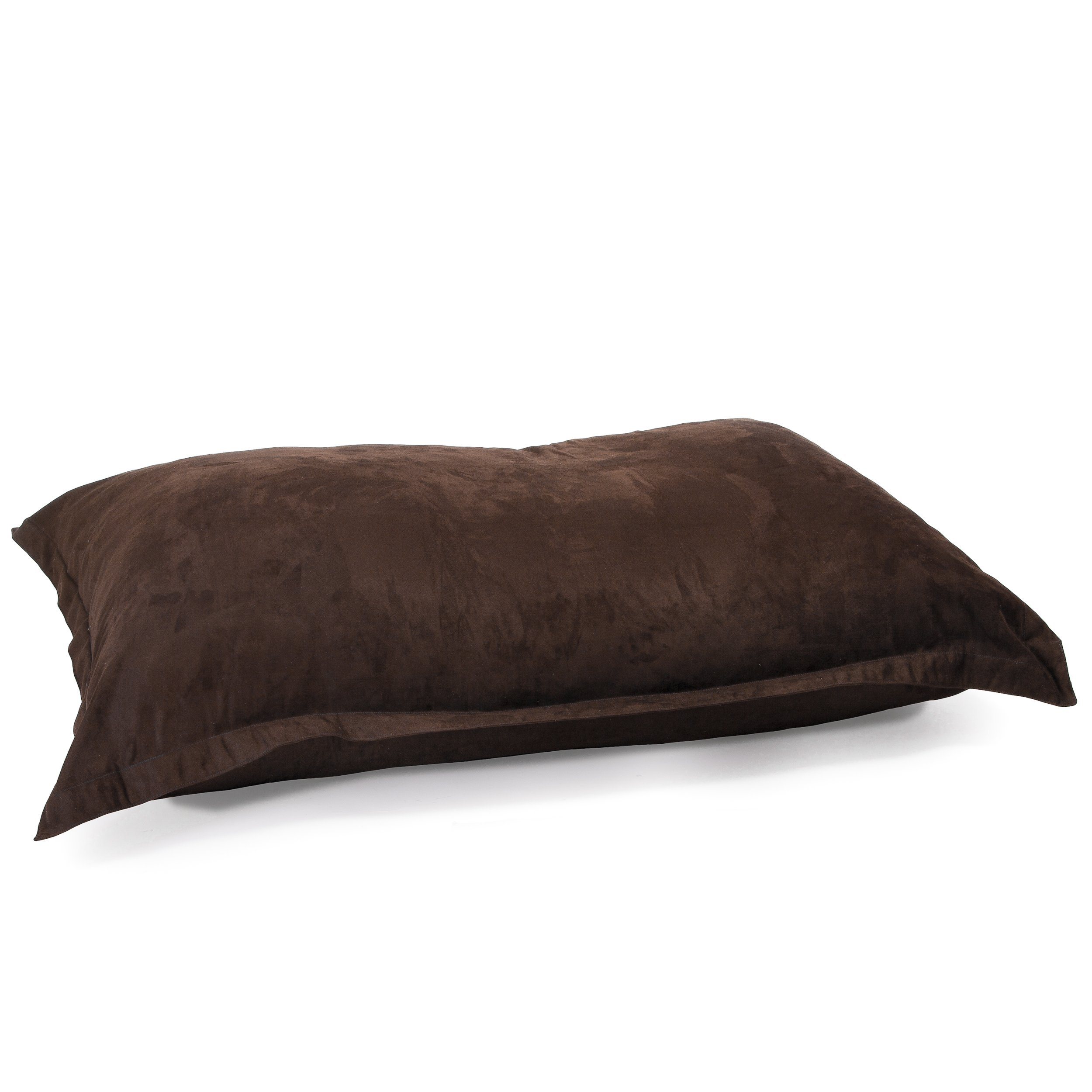 Best Selling Charter Faux Suede Lounge Pillow Bean Bag Chair, 5-Feet, Brown