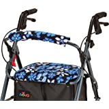 "NOVA Rollator Walker Seat & Back Cover, Removable and Washable, ""Aloha Blue"" Design"