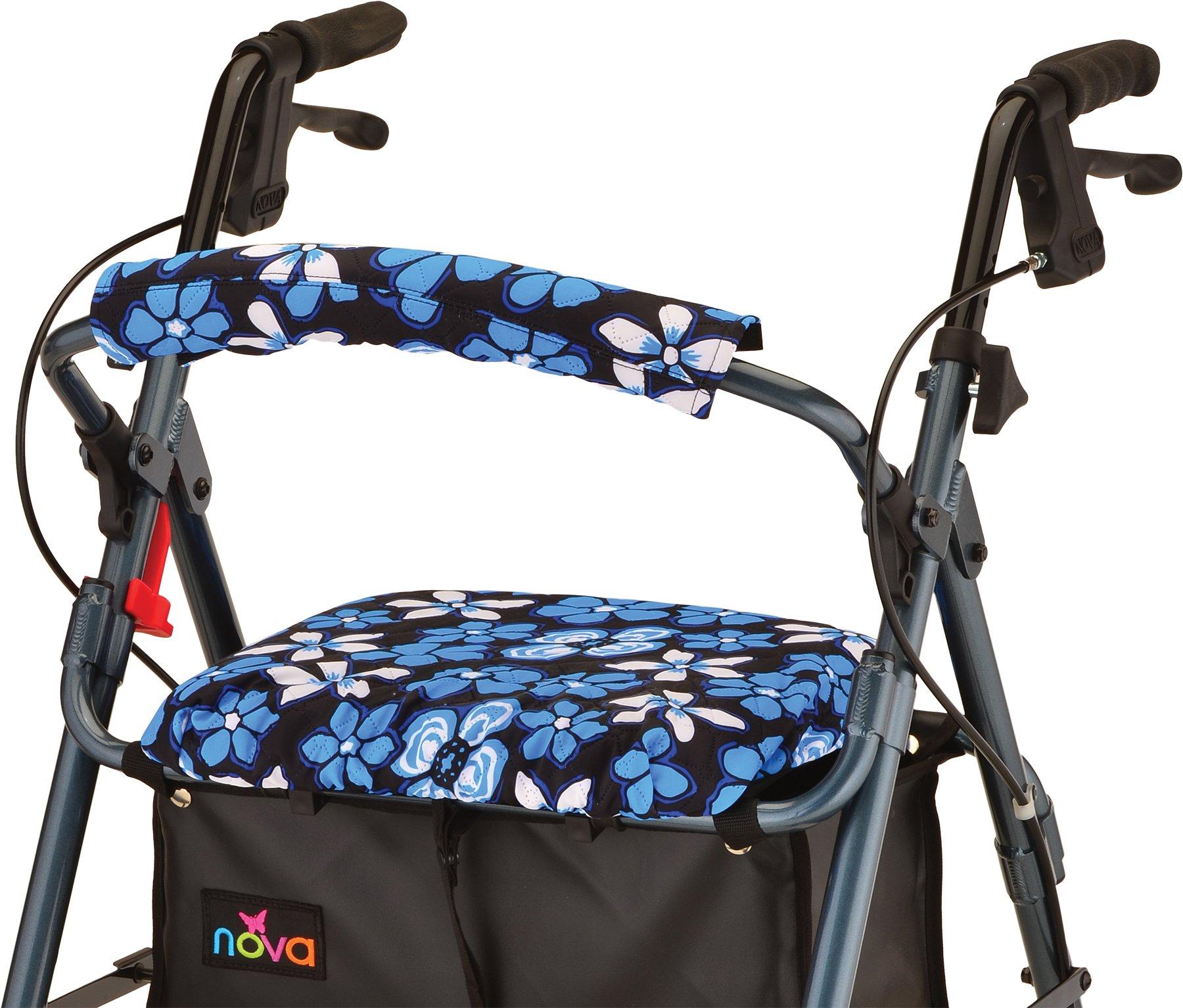NOVA Medical Products Seat & Back Cover, Aloha Blue, 0.45 Pound