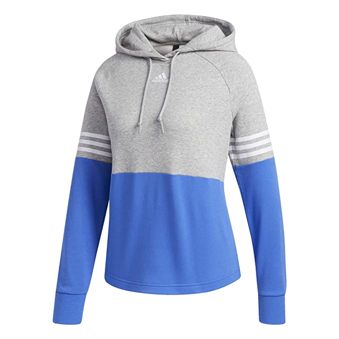 f3de77623 Adidas Sport ID Color Block Hoodie Women's Multisport XS Medium Grey  Heather-Hi Res Blue
