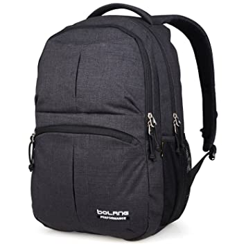 b039225ea527 Amazon.com  College Backpack for Men Women Water Resistant Travel Backpack  Laptop Backpacks Fits Under 16 Inch Laptop Notebook by BOLANG 8459 (black)   ...