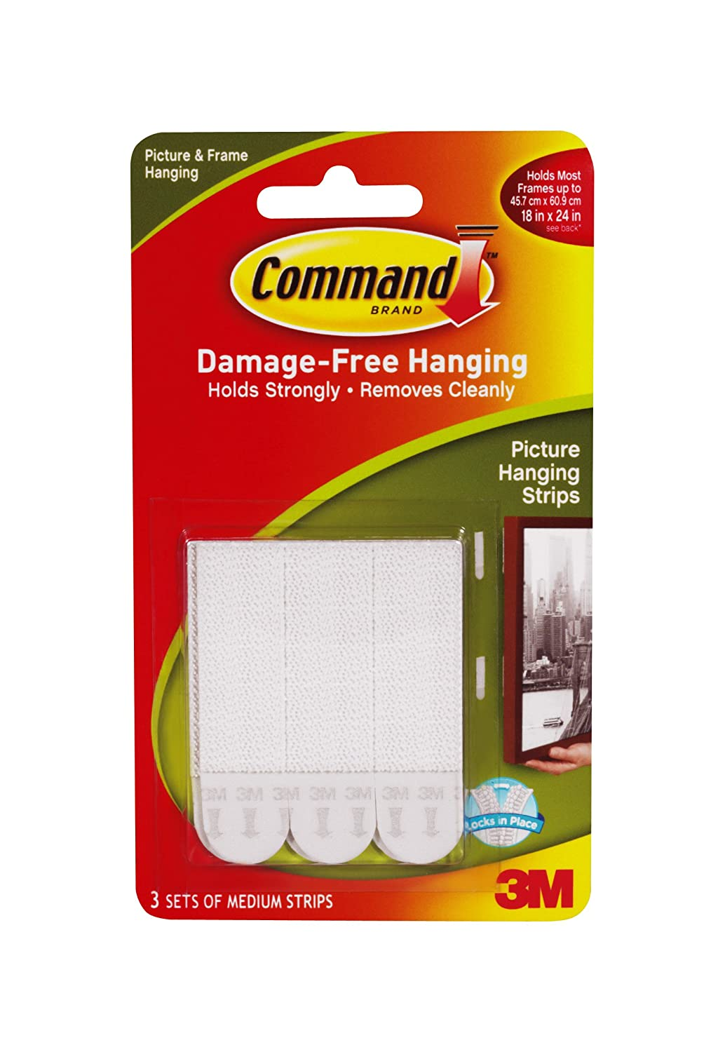 3M Command Damage-Free Medium Picture Hanging Strips 17201-ES
