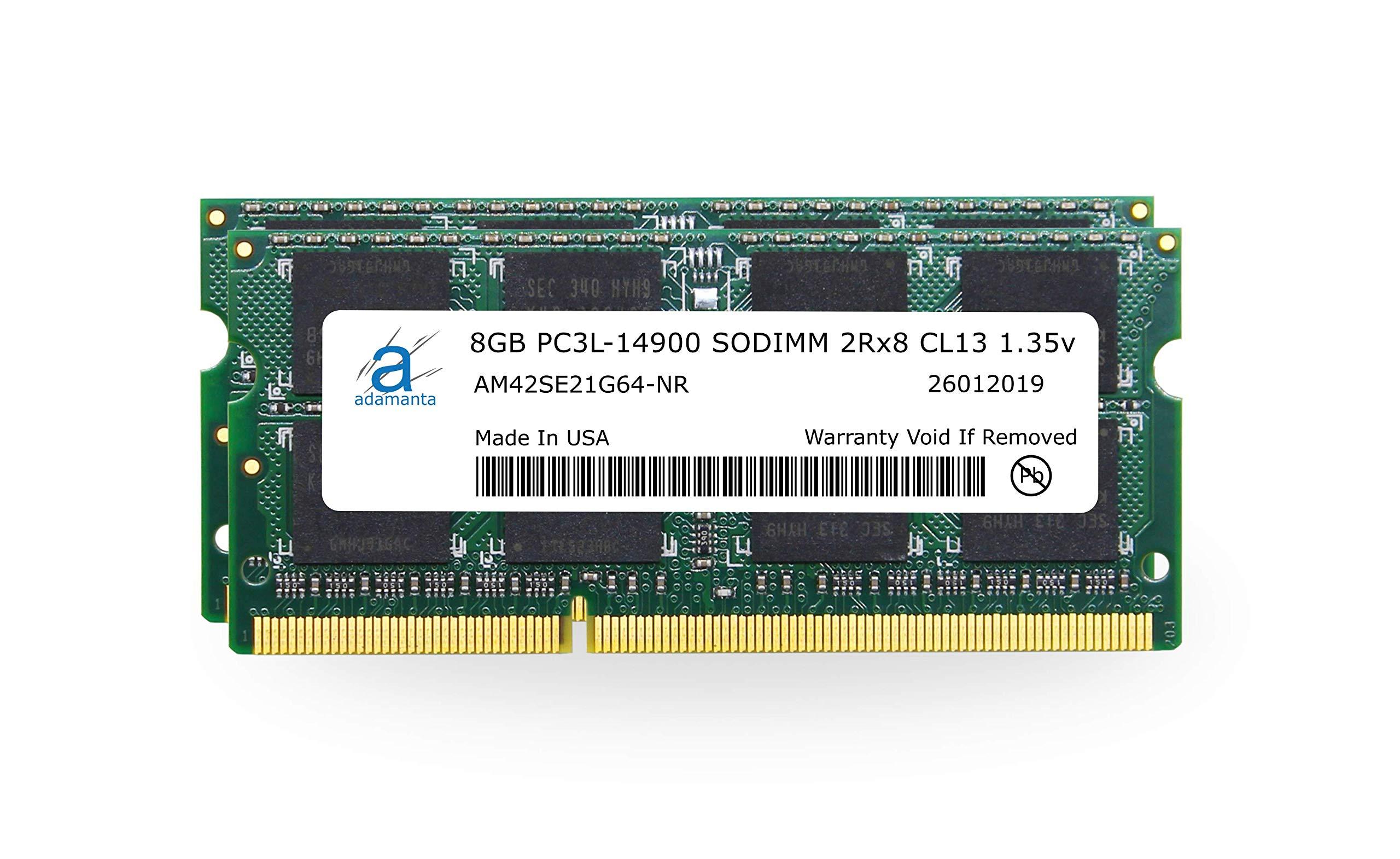 Adamanta 16GB (2x8GB) Apple Memory Upgrade for Late 2015 iMac 27'' DDR3/DDR3L 1867Mhz PC3L-14900 SODIMM 2Rx8 CL13 1.35v RAM