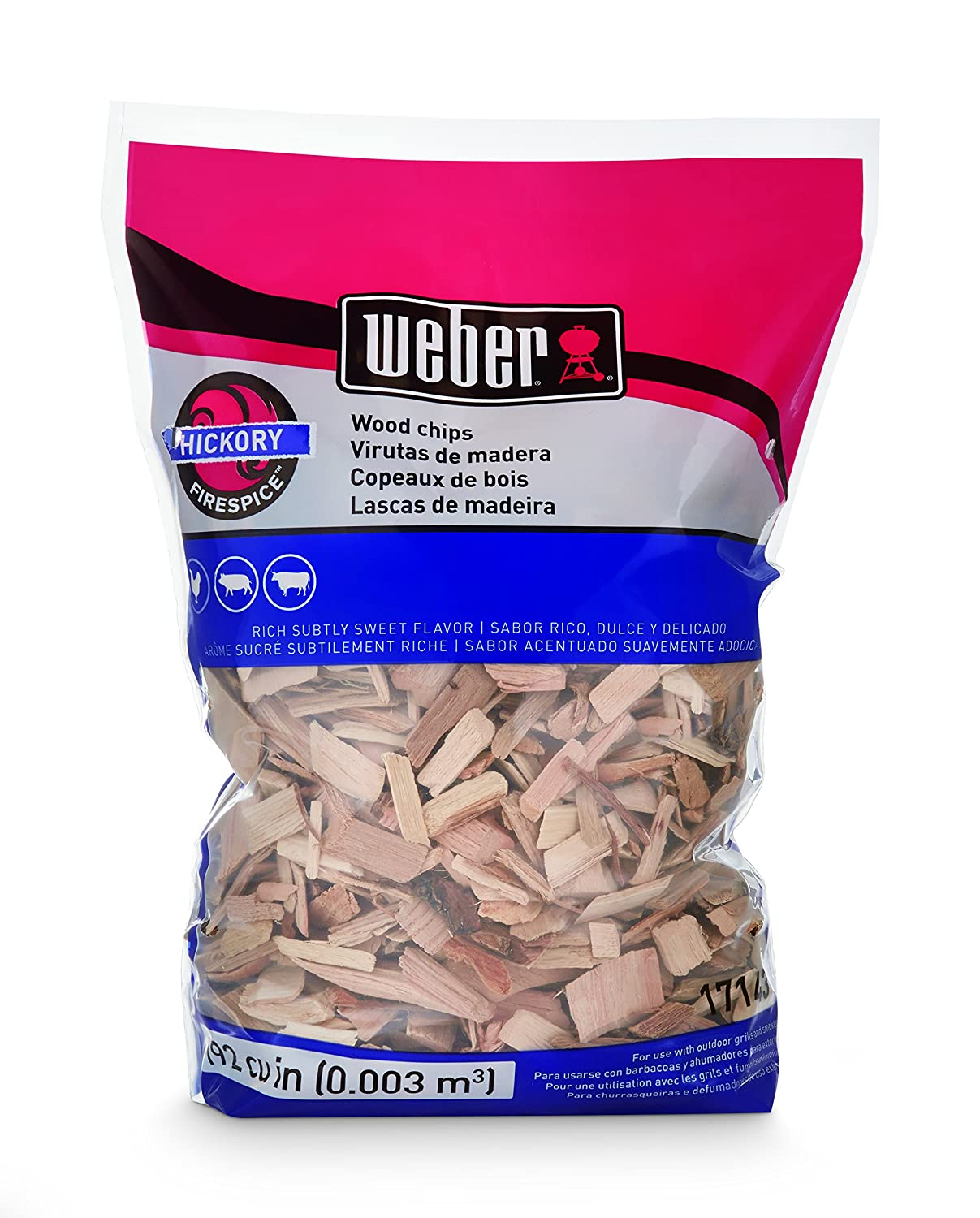 Weber-Stephen Products 17143 Hickory Wood Chips, 2 Lb.