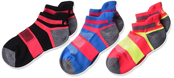 f2385cb0acdee Amazon.com : ASICS Youth Quick Lyte Cushion Low Cut Running Socks (3 ...