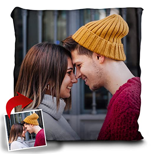 LolaPix Cojin Personalizado con Foto. Regalos Personalizados con Foto. Impresión Total por Las 2 Caras hasta la Costura. Relleno Incluido. Varios ...