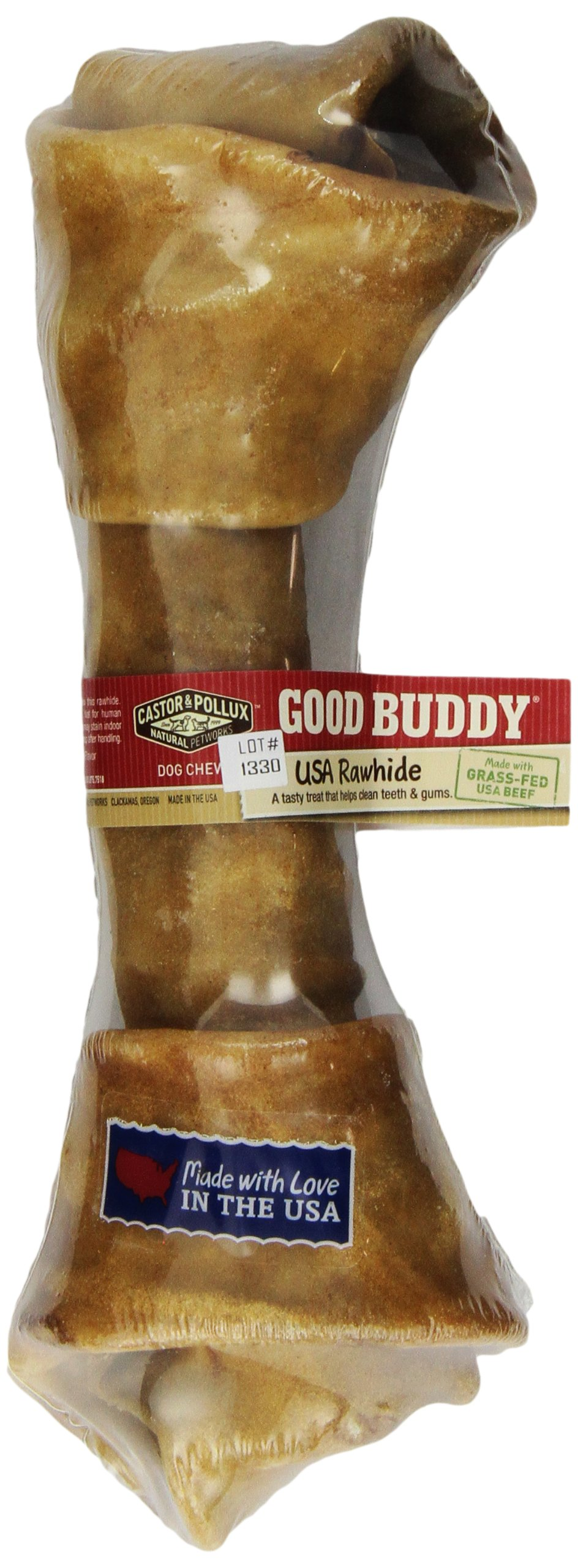 Castor & Pollux Good Buddy USA Rawhide Bone, 10-11 inch Pack of 5 by Good Buddy