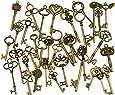 36 Unids Extra Grande Acabado de Bronce Antiguo Llaves Esqueleto Rústico Llave para la Decoración de La Boda Favor, Colgantes, Fabricación de Joyas
