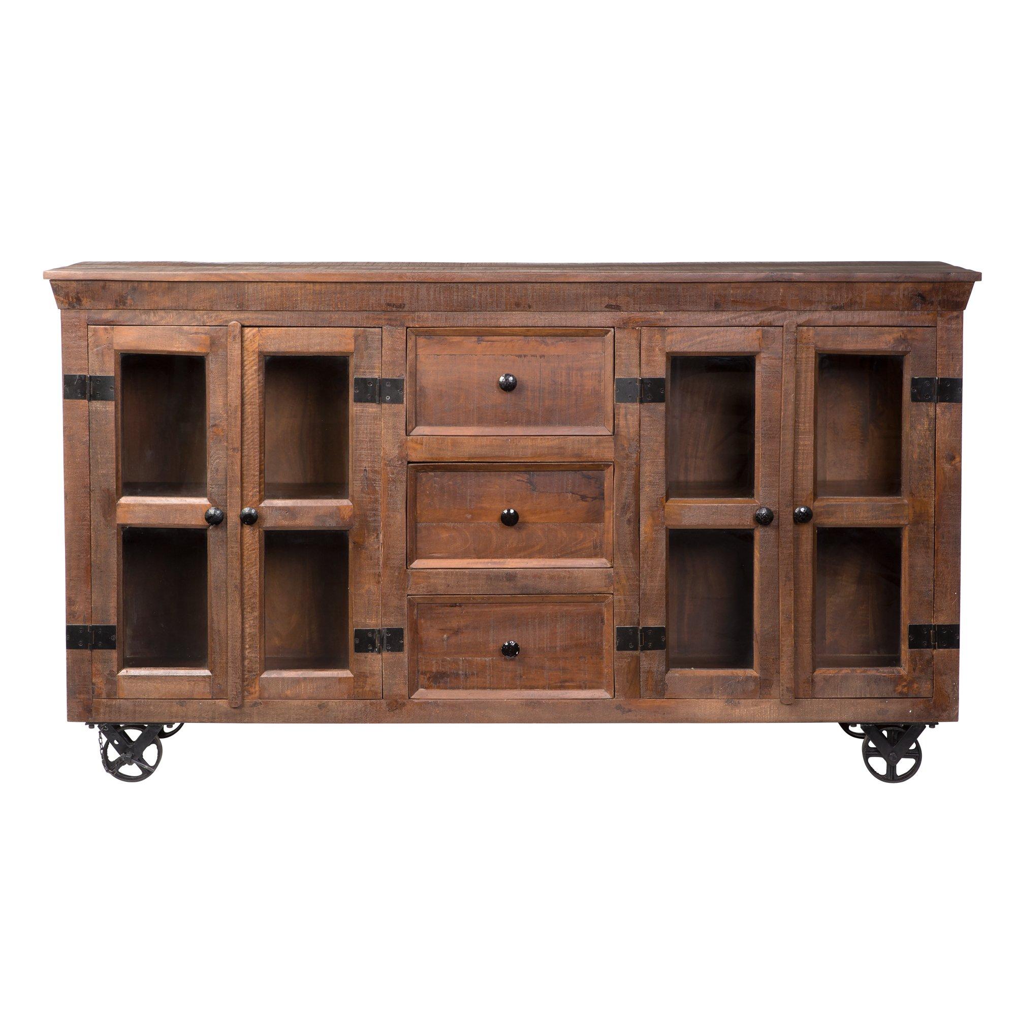 Yosemite Home Decor YFUR-VA7040 Storage/Display Cabinet, Brown