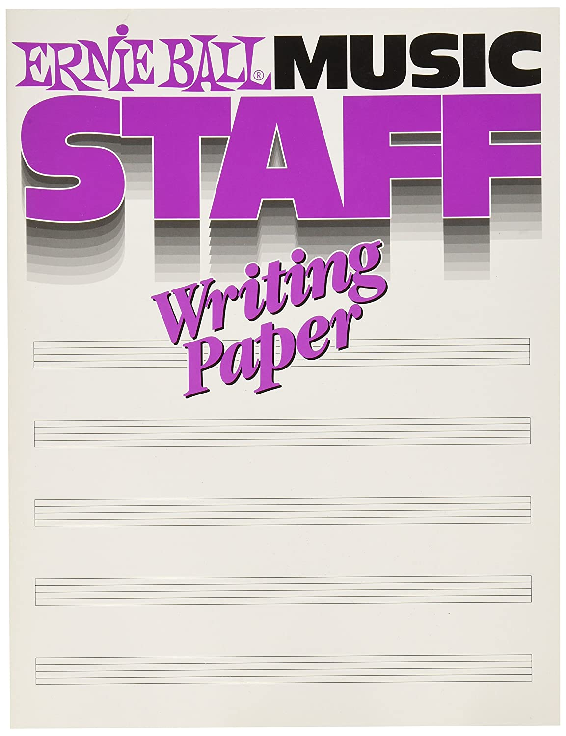 Ernie Ball 7019 Music Staff Writing Paper Book P07019