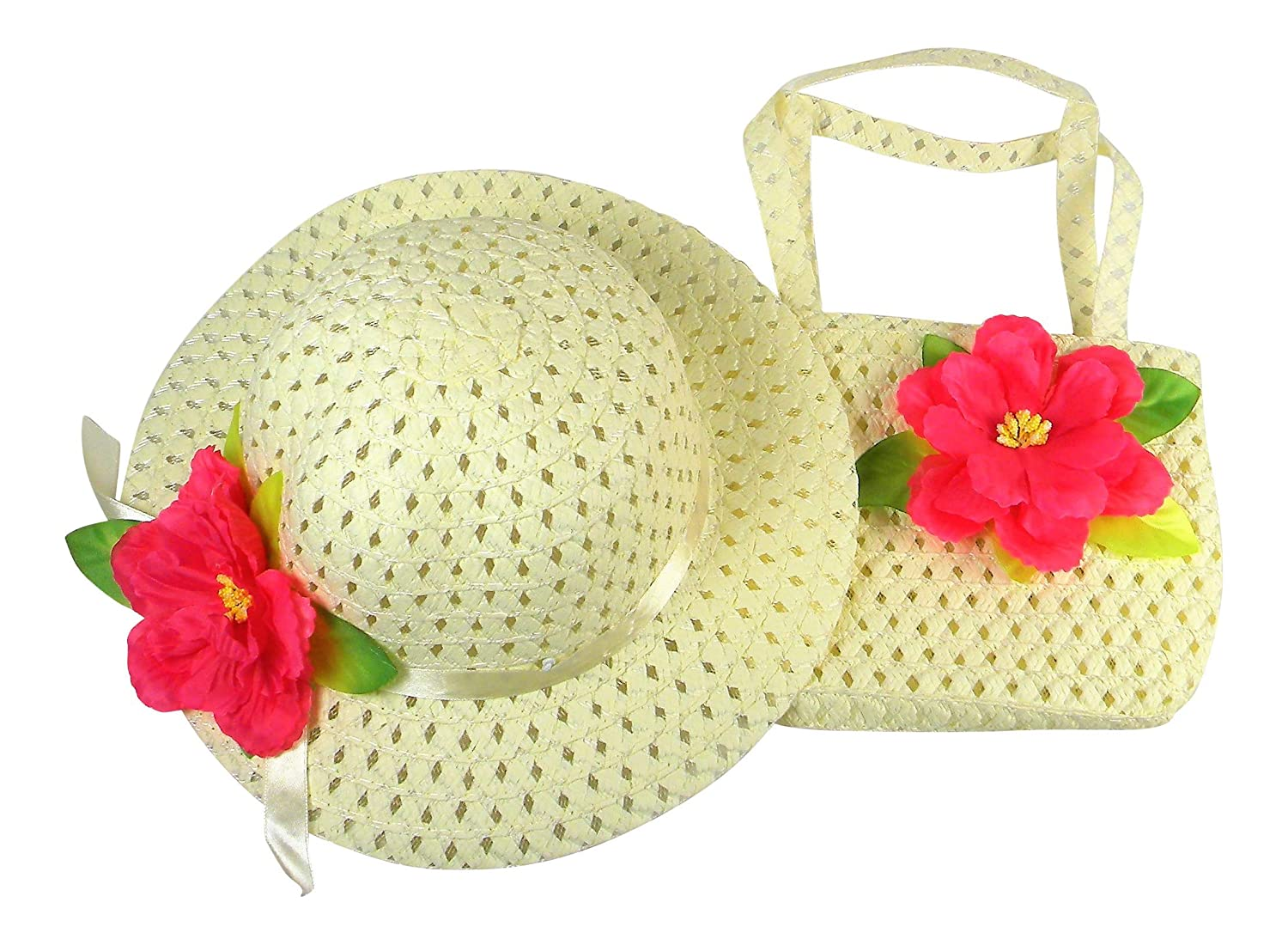and White Gloves Purse Butterfly Twinkles Girls Tea Party Dress Up Play Set with Sun Hat by