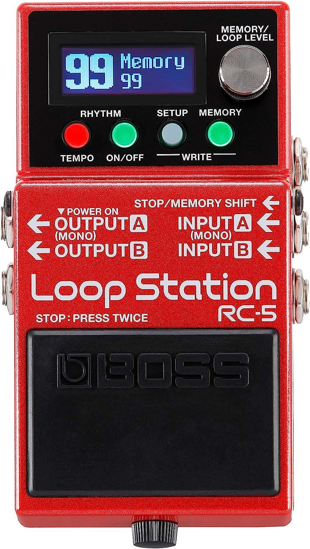 BOSS RC-5 Loop Station – Avanzado looper compacto con un sonido excepcional, 99 memorias de frase, 57 ritmos y compatibilidad con control MIDI. Ideal para guitarra eléctrica y electroacústica, bajo y
