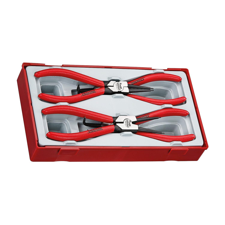 Teng Tools 4 Piece 7 Inch Snap Ring Circlip Plier Set TT474-7