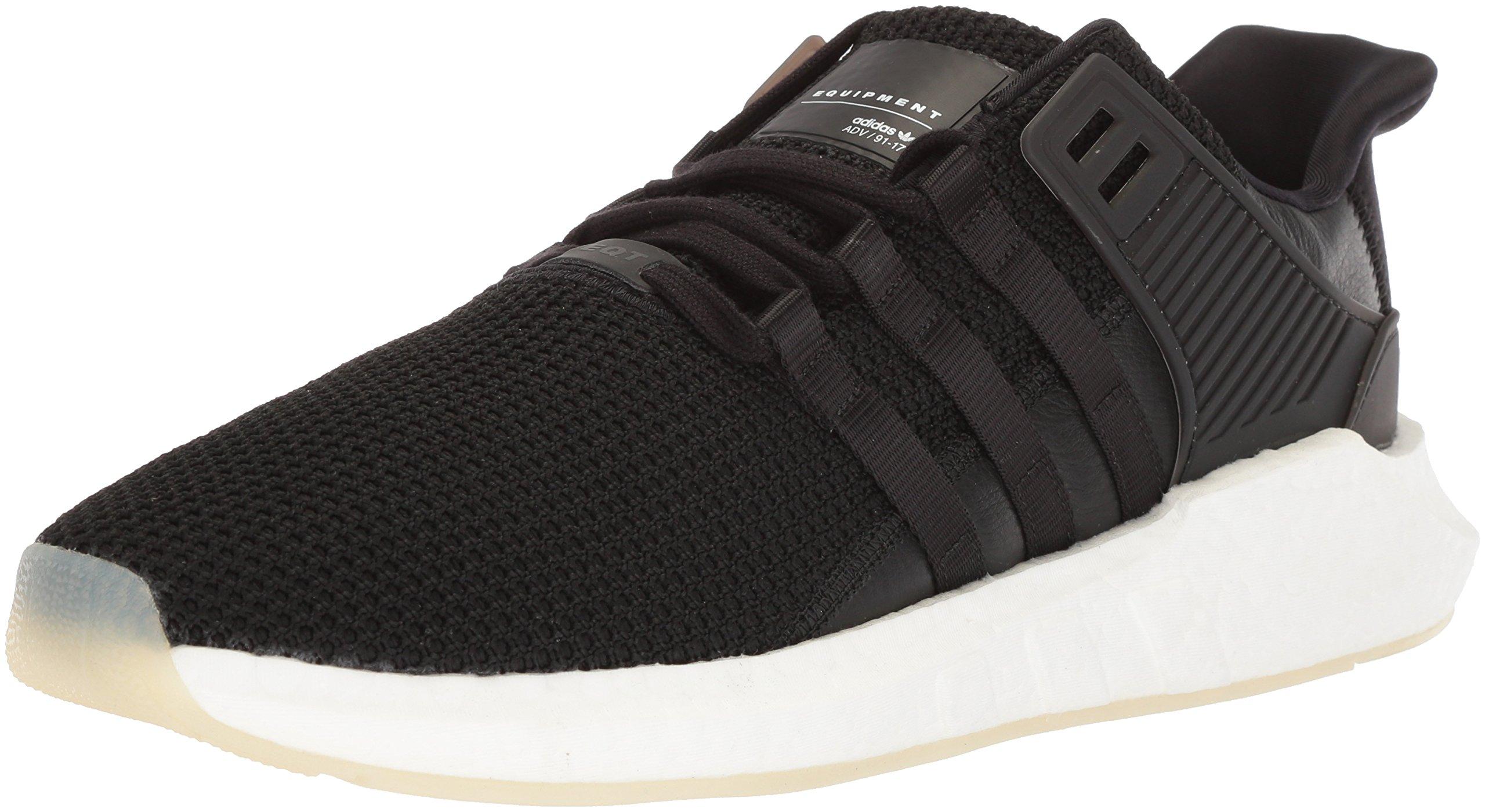 adidas Originals Men's EQT Support 93/17 Running Shoe, Core Black/Core Black/White, 11 M US