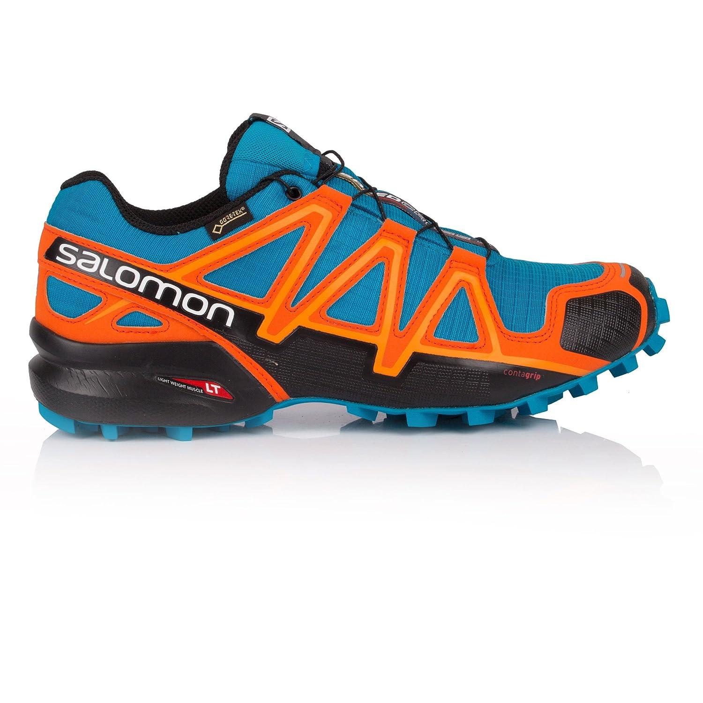 Salomon Speedcross 4 GTX, Calzado de Trail Running para Hombre 42 2/3 EU|Multicolor (Hawaiian Surf/Black/Scarlet Ibis)