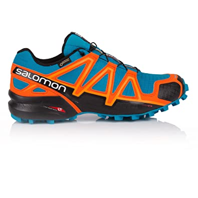 Salomon SPEEDCROSS 4 GTX - Trail running shoes - hawaiian surf/black/scarlet ibis nO0KOF83rZ