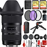 Sigma 18-35mm f/1.8 DC HSM Art Lens Canon EF-Mount Bundle with 2X 64GB Memory Cards, IR Remote, 3 Piece Filter Kit…