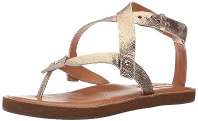 Corso Como Women's Spa Flat Sandal, Champagne Soft Tumbled Metallic, ...