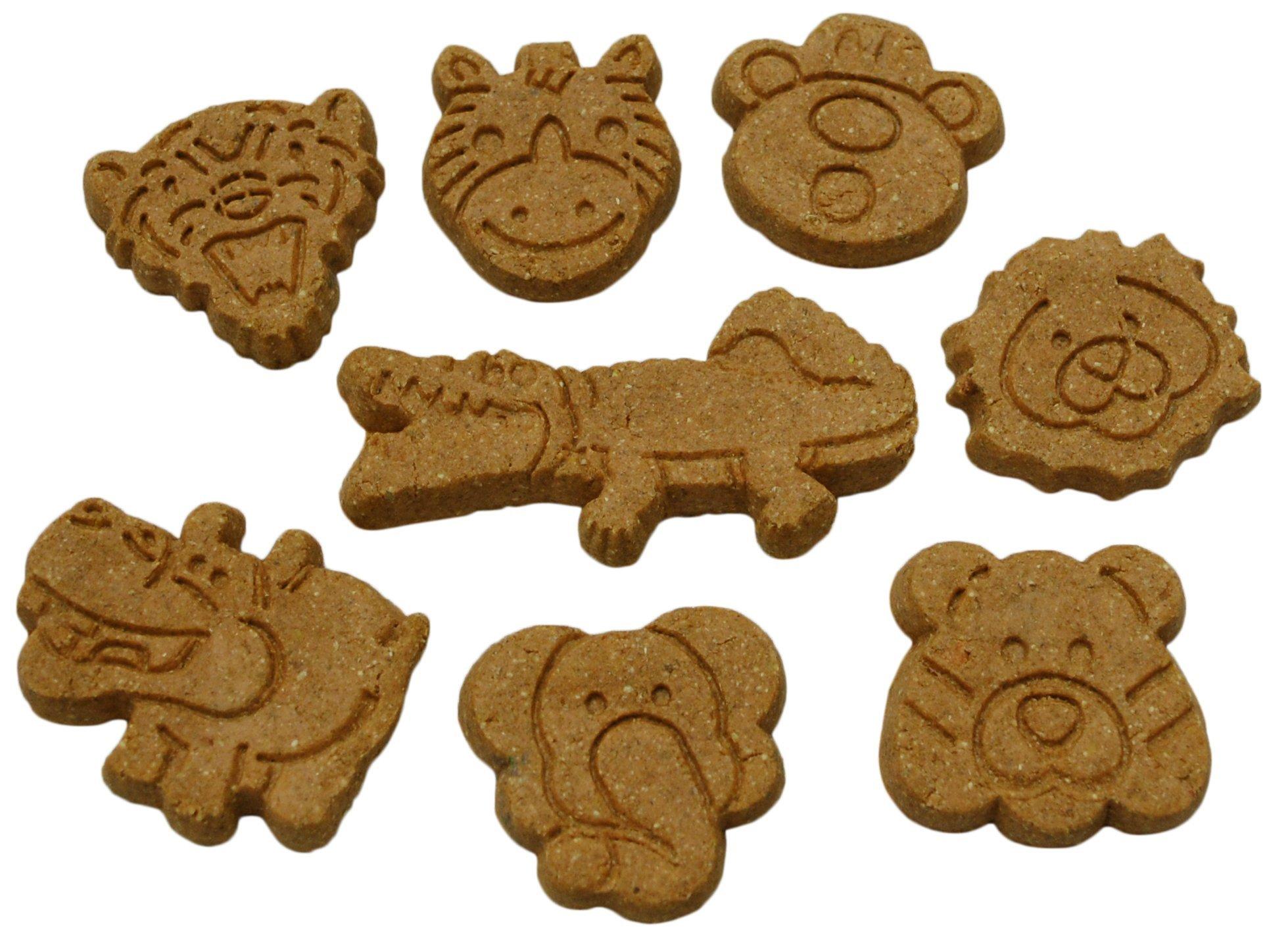 Howlin' Goodies Dog Treats, Made in USA, 100% All Natural Organic Ingrediants, Sweet Potato Jungle Animals, 10lb Bulk Box