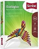 Scribe Papel para el Cuidado del Medio Ambiente 93% de Blancura, Paquete de 500 Hojas, color Verde Bandera