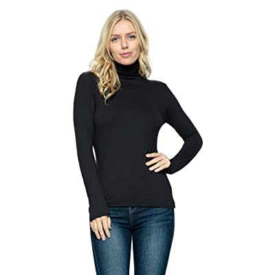OCOMMO Turtle Neck Top for Women, Lightweight and Warm Long Sleeve Turtleneck Shirt at Women's Clothing store