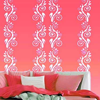 Kayra Decor Reusable DIY Wall Stencil Painting for Home Decor (Plastic Sheet, 16inch X 24 Inch), Clear