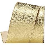 asca オーナメント リボン 900×6.3cm ゴールド A-16774-040