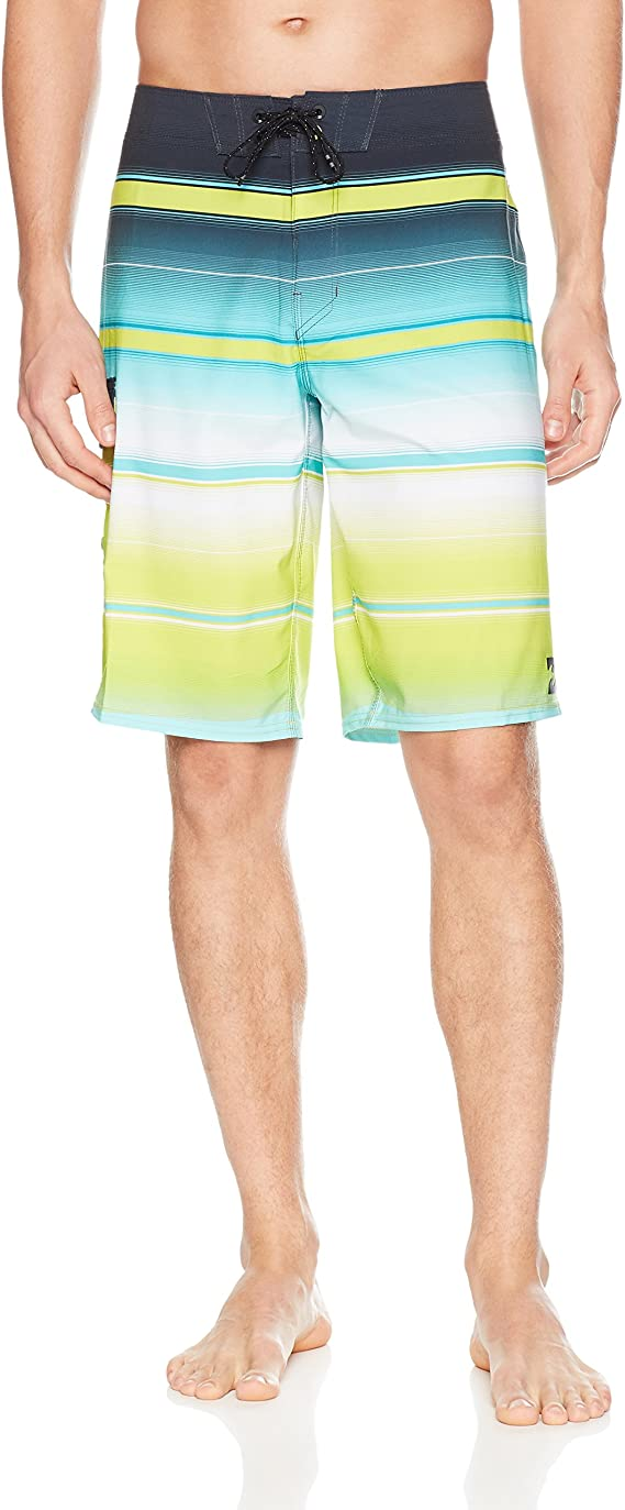 Billabong Boy Youth All Day Stripe X Stretch Boardshort Short Platinum Lime 27