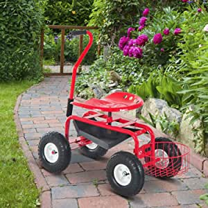 Generic - Carrito de jardín con Ruedas para jardinería y jardinería: Amazon.es: Electrónica