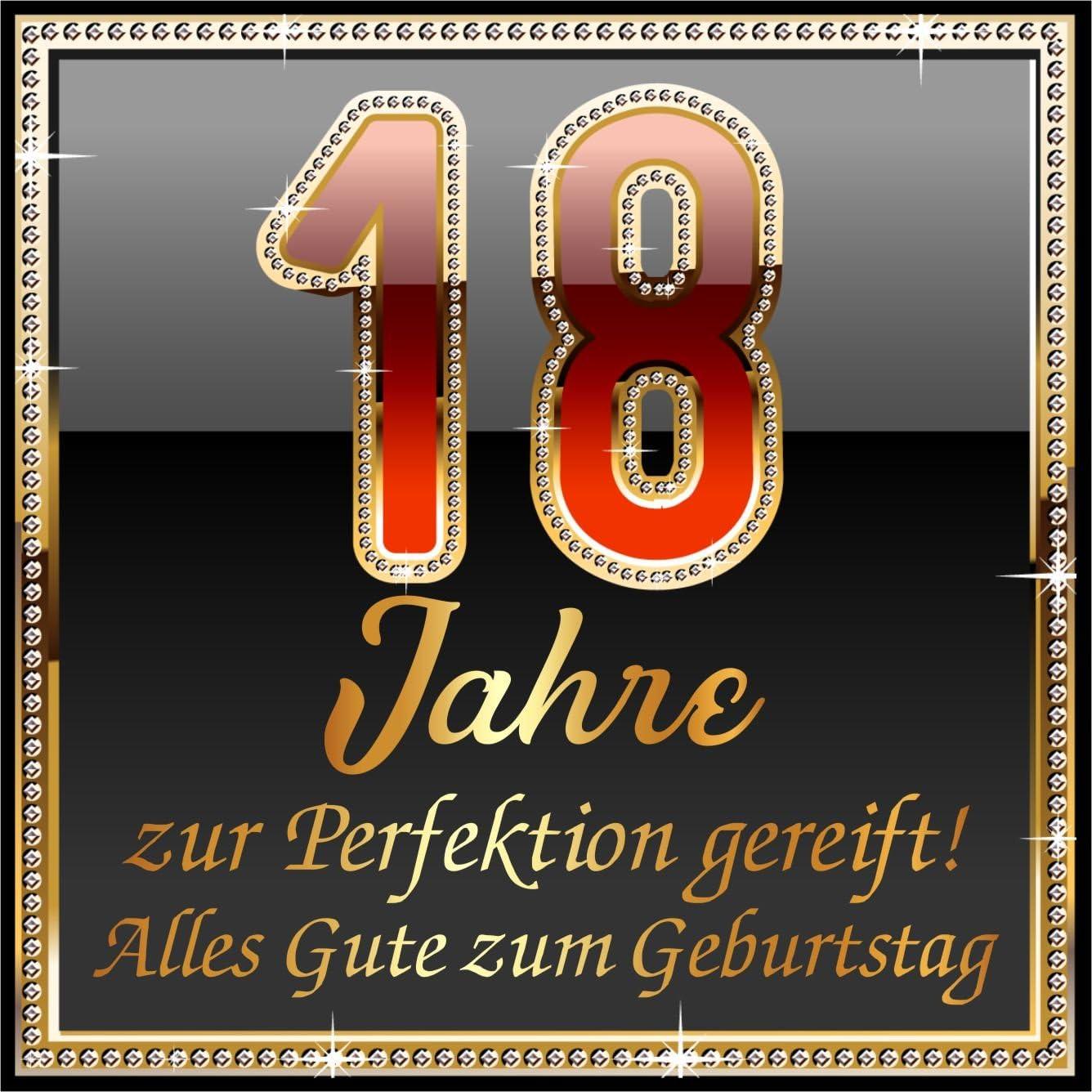RAHMENLOS 5 St Aufkleber Original Design Geburtstag Selbstklebendes Flaschen-Etikett zum 18 18 JahreZur Perfektion gereift!