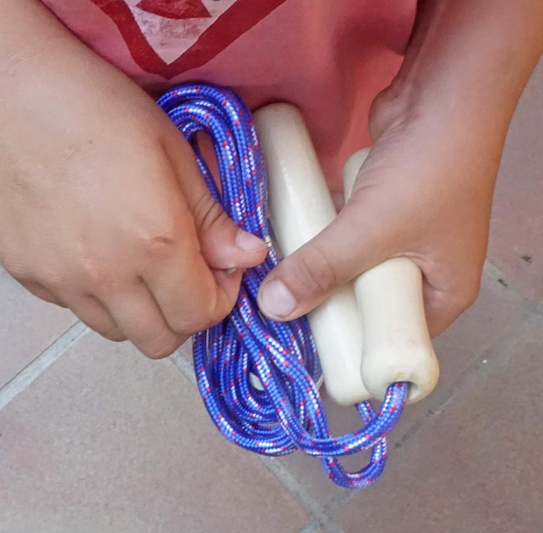 Combas con Mango de Madera y una Guirnalda de 10 m Partituki Pack de 20 Cuerdas para Saltar Ideal para Juegos al Aire Libre y Detalles de Cumplea/ños Infantiles.