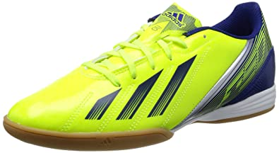 d4ac972b0b1 adidas F10 in Yellow Navy Mens Indoor Soccer Cleats